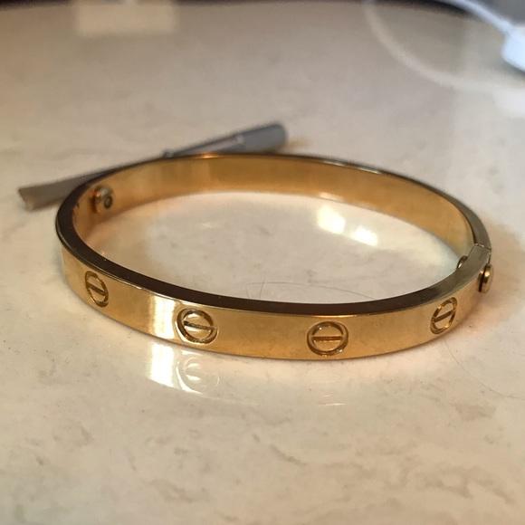 1b9ea79af246b Gold Plated Love Lock Bracelet